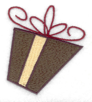 Embroidery Design: Gift Parcel 1 large 2.37w X 2.67h