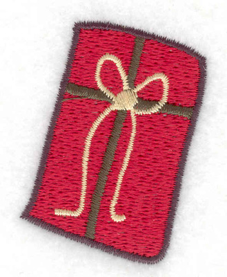 Embroidery Design: Gift Parcel 2 large 1.63w X 2.11h