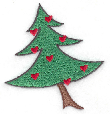 Embroidery Design: Decorated Christmas tree small 3.45w X 3.71h