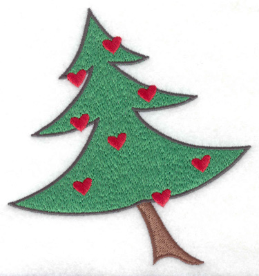 Embroidery Design: Decorated Christmas tree large 4.67w X 4.96h