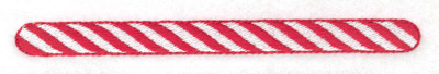 Embroidery Design: Candy cane line large 4.96w X 0.40h
