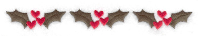 Embroidery Design: Mistletoe border 4.98w X 0.56h