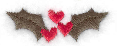 Embroidery Design: Mistletoe  1.59w X 0.56h