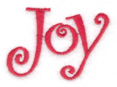 Embroidery Design: Joy 2.32w X 1.66h