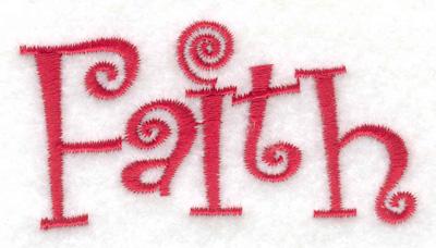 Embroidery Design: Faith 2.90w X 1.55h