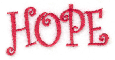Embroidery Design: Hope 2.80w X 1.38h