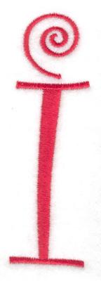 Embroidery Design: i 1.22w X 4.00h