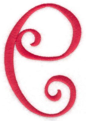 Embroidery Design: e 2.70w X 4.00h