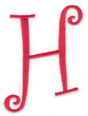 Embroidery Design: H upper case 2.75w X 4.00h