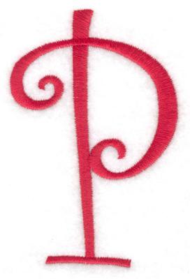 Embroidery Design: P 2.58w X 4.00h