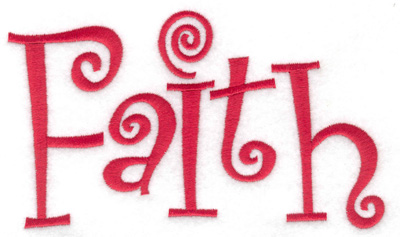 Embroidery Design: Faith 6.02w X 3.61h