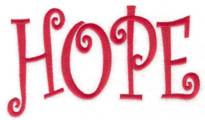 Embroidery Design: Hope 6.01w X 3.51h