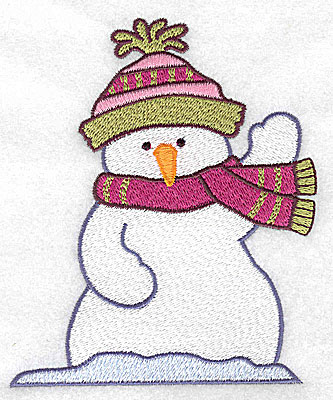 Embroidery Design: Snowman waving large 4.19w X 4.96h
