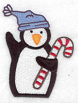 Embroidery Design: Penguin wearing toque 2.80w X 3.56h