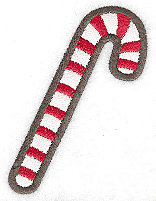 Embroidery Design: Candycane applique 2.70w X 3.83h