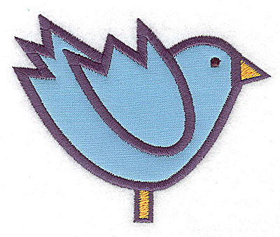 Embroidery Design: Bluebird applique 3.87w X 3.11h