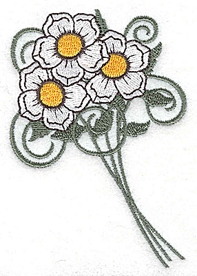 Embroidery Design: Flower bouquet 2.68w X 3.86h