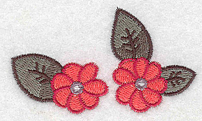 Embroidery Design: Flower duo 3.02w X 1.77h