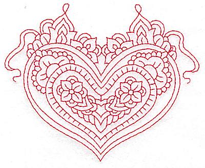 Embroidery Design: Heart 1 Medium 4.85w X 3.95h