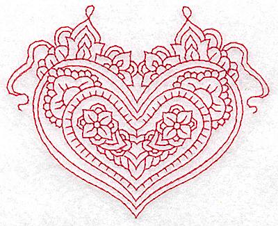 Embroidery Design: Heart 1 Small 3.83w X 3.12h