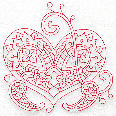 Embroidery Design: Heart 2 Medium 4.83w X 4.84h