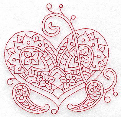 Embroidery Design: Heart 2 Small 3.82w X 3.82h
