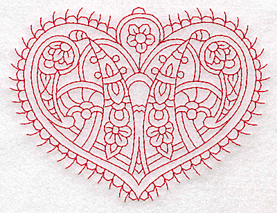Embroidery Design: Heart 3 Medium 4.89w X 3.62h