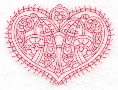 Embroidery Design: Heart 3 Small 3.86w X 2.86h