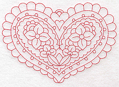 Embroidery Design: Heart 4 Large 6.21w X 4.45h