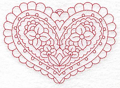 Embroidery Design: Heart 4 Medium 4.85w X 3.47h