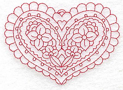 Embroidery Design: Heart 4 Small 3.83w X 2.75h