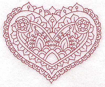 Embroidery Design: Heart 5 Small 3.86w X 3.21h