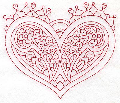 Embroidery Design: Heart 6 Medium 4.86w X 4.16h