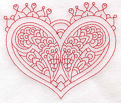 Embroidery Design: Heart 6 Small 3.84w X 3.29h