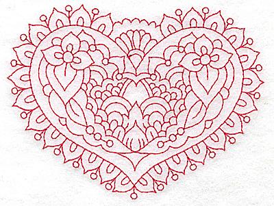Embroidery Design: Heart 7 Medium 4.87w X 3.70h