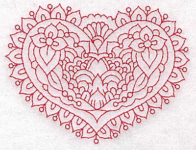 Embroidery Design: Heart 7 Small 3.85w X 2.92h