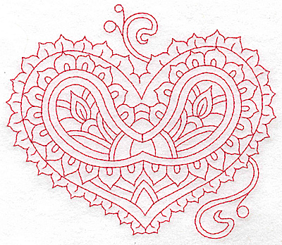 Embroidery Design: Heart 8 Large 6.22w X 5.44h