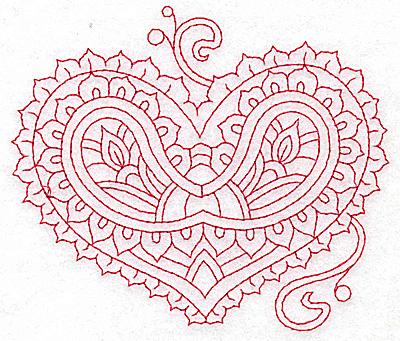 Embroidery Design: Heart 8 Medium 4.86w X 4.25h