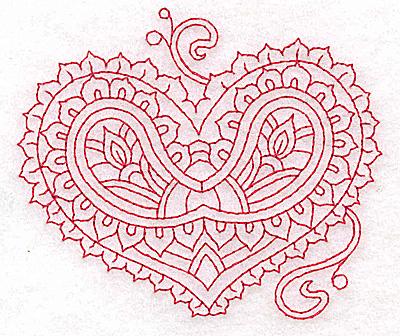 Embroidery Design: Heart 8 Small 3.84w X 3.36h