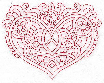 Embroidery Design: Heart 9 Medium 4.85w X 3.79h