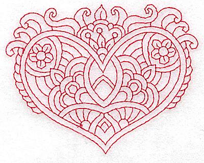 Embroidery Design: Heart 9 Small 3.83w X 3.00h