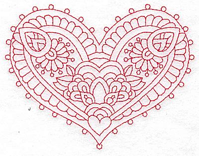 Embroidery Design: Heart 10 Medium 4.89w X 3.77h