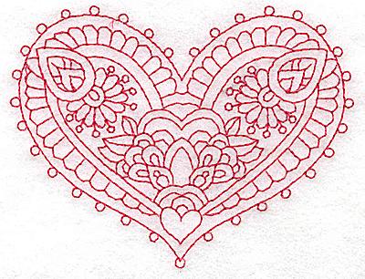 Embroidery Design: Heart 10 Small 3.86w X 2.98h