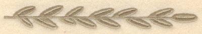 Embroidery Design: Small laurel leaf6.00w X 0.81h