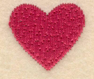 Embroidery Design: Small single heart1.27w X 1.14h