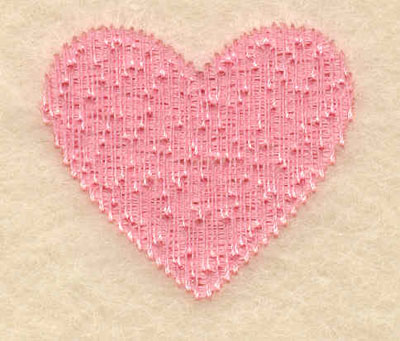 Embroidery Design: Large single heart1.52w X 1.37h