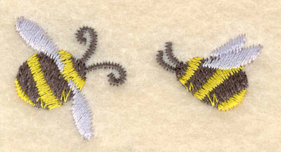 Embroidery Design: Bees2.01w X 1.01h