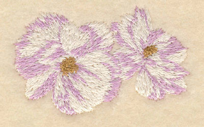 Embroidery Design: Double flower2.69w X 1.67h