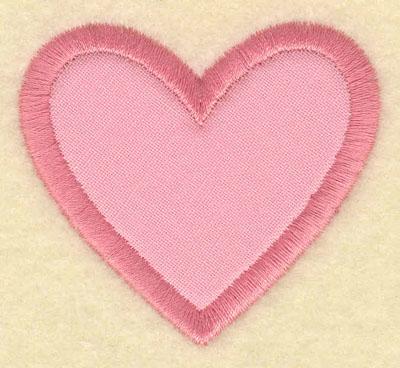 Embroidery Design: Heart applique 2.20w x 2.01h