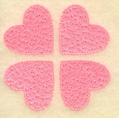 Embroidery Design: Four hearts2.51w X 2.51h